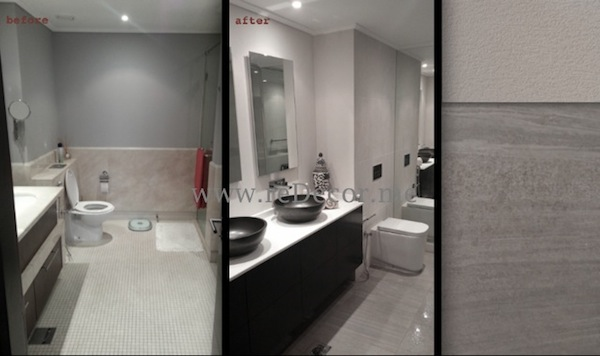 Bathroom remodelling white grey and black Downtown Southridge