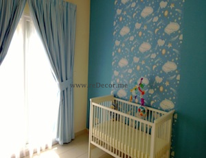 nursery room wallpaper decor