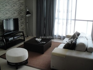 black grey interior decor downtown dubai residences