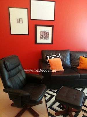 red black interiors dubai interior decor