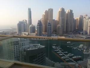 dubai marina trident waterfront view from penthouse