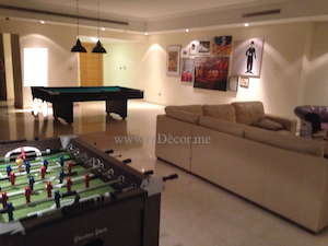 bachelor interior with games room and pool table dubai marina