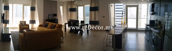 Large living room simple interior decor solutions and consultation in Dubai