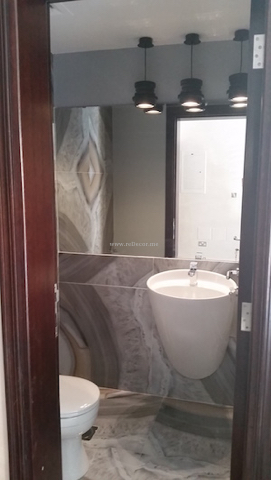 small bathroom remodelling and renovations Dubai, stylish modern bathroom, powder room decor