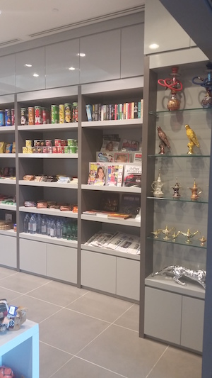 shelving, organising shop, front shop, modern sliding door, shop renovation, modern souvenir shop, decor consultation, design, dubai, atlantis