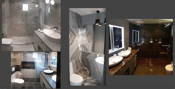 small bathroom remodelling and renovations Dubai, stylish modern bathroom