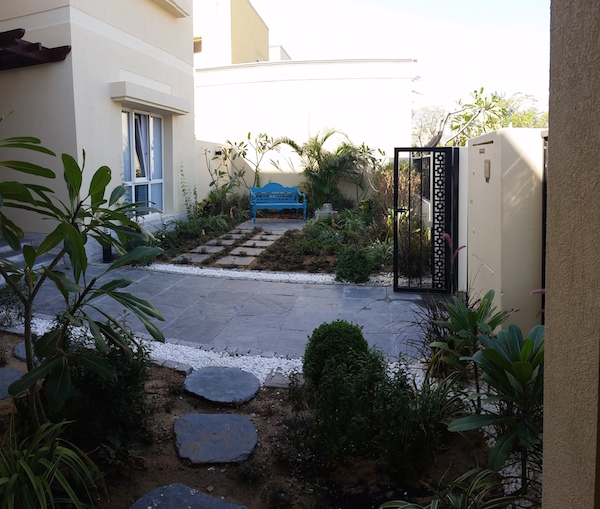 front garden landscaping, Meadows villa remodeling, renovation