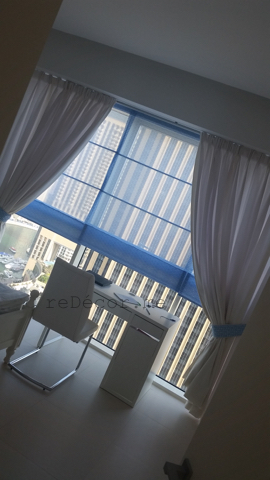 girl blue grey white room, custom mdae curtains, interior decor and design, consultation Dubai
