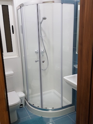 bathroom fitout, mirror wardrobe, modern bedroom decor, simple, malta fit outs, consultation, apartment for rent in Malta