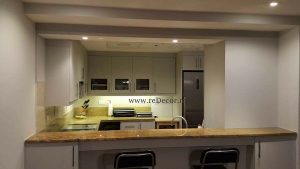 renovated kitchen in greens, dubai, design, colours, grey kitchen Dubai design, decor consultation