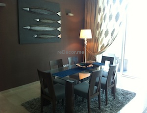 dining , modern design and decor, Dubai interior decor, marina consultation