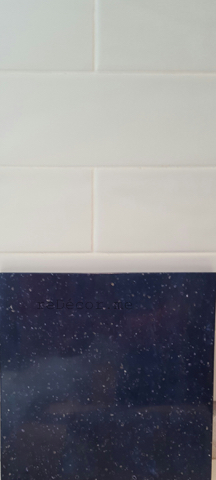 subway white tiles , blue corian, Furjan villas kitchen remodelling, before and after kitchen remodelling, off white with blue corian, Furjan villas, Dubai design and consultation