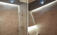 Fit out works bathroom, remodelling, decor, design, dubai, walk in shower instead bath tube