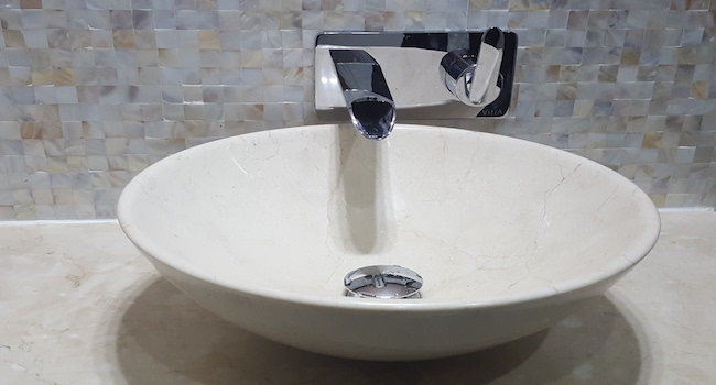 old greens bathroom renovation, remodelling, design, modern, marble, walk in shower, dubai, marble basin