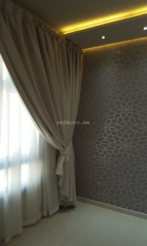 Master bedroom interior decor, Fit out jobs in Dubai, interior decor and design, consultation, ideas, gypsum ceiling, lighting solutions, modern cozy interiors, Old greens, kitchen remodelling, kids rooms, earthy colors, wall TV ikea unit