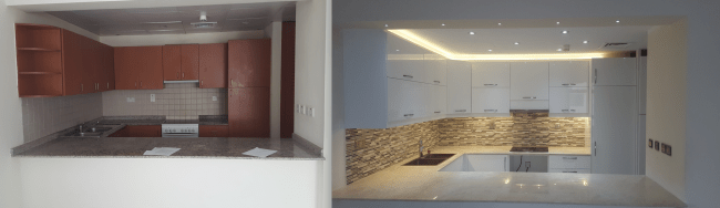 Dubai fit out kitchen remodelling renovation design old greens kitchen remodelling design consultation in Old greens