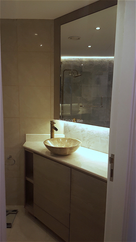 tiny maids bathroom, home bar area, bohemian dressing table, wall tiles, kitchen fitout dubai, dubai kitchen design, louvered cabinets, corian work top, consultation, dining kitchen, french decor tiles,dubai marina crown, top bar lighting, built in one piece basin, unusual floor space for kitchen, waterproof parquet, floorworld dubai, bohemian style apartment decor, recycle paint desk