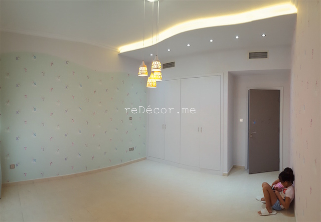 Lots of light in kids room, gypsum ceiling, chalkboard wall, wallpaper, decor, design dubai