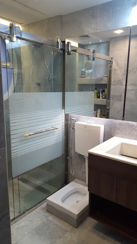 Master bathroom remodelling. Complete change to modern looks: walk in shower, squad, organised lighting, design consultation, lay out, dubai , springs villas, squad, healthy living, consultation