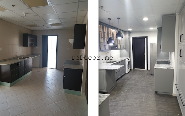 styling homes with vinyl flooring dubai marina sail fitout  kitchen remodeling dubai interiors grey with black kitchen