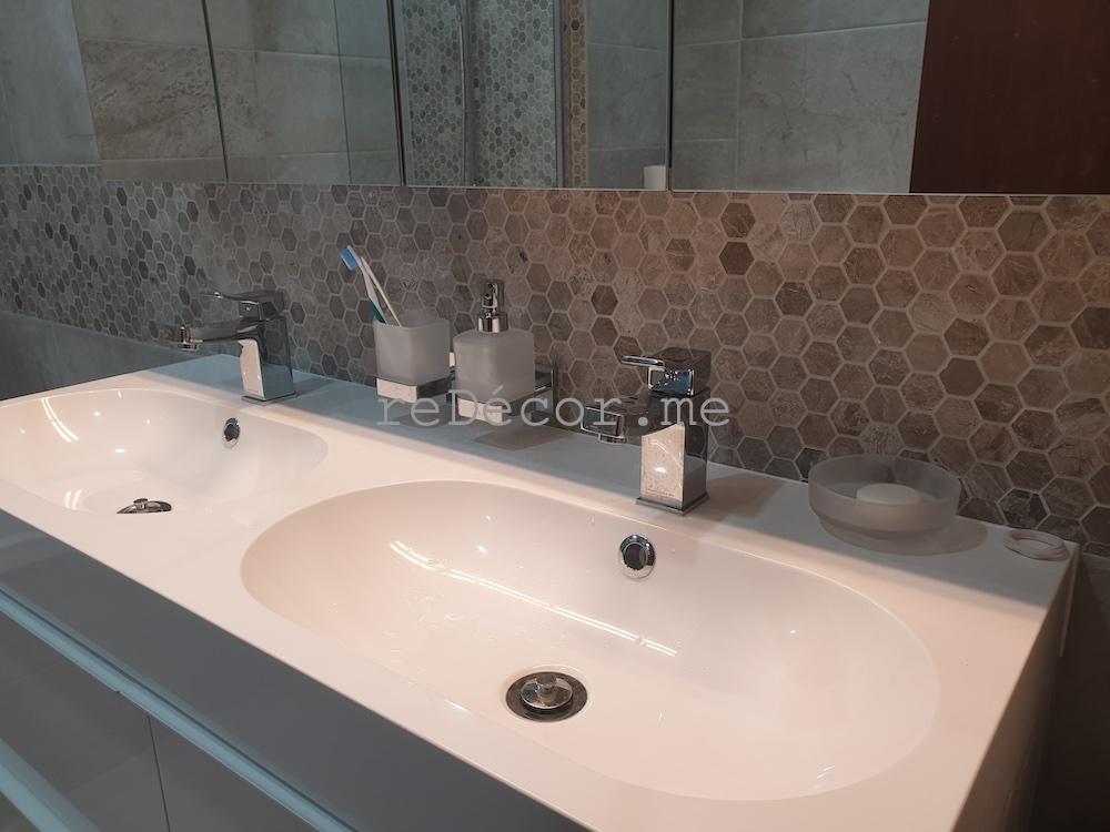 bathroom renovation in jbr amwaj shams dubai interior designer , modern design style