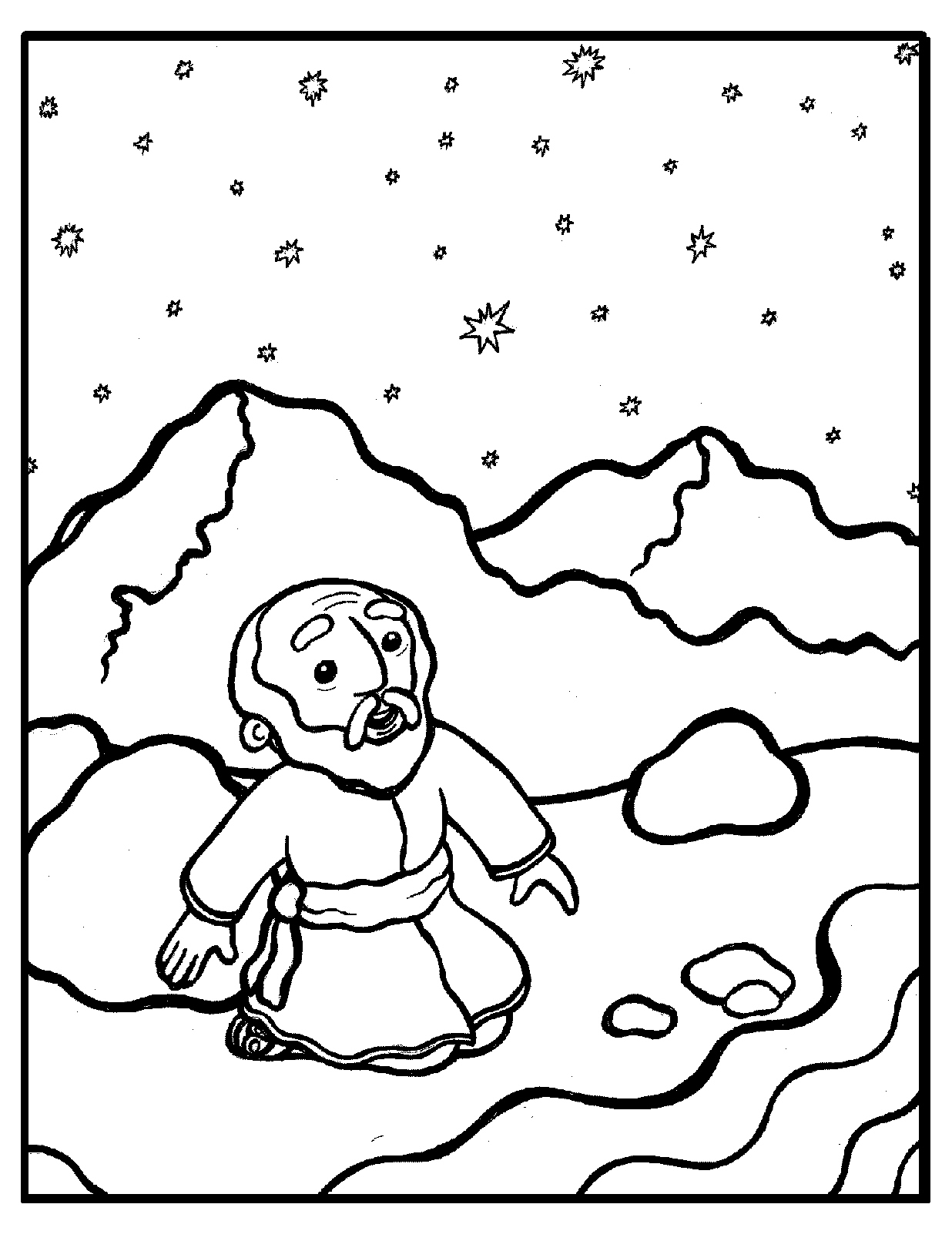 abraham coloring sheet