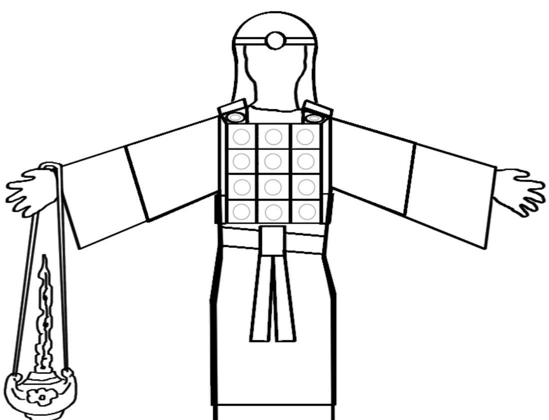 high priest breastplate coloring pages