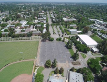 UAV Aerial Photo Of The University Of The Pacific Campus In Stockton, California