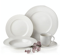Mikasa White Italian Dinnerware Set for Eight + Serving ...