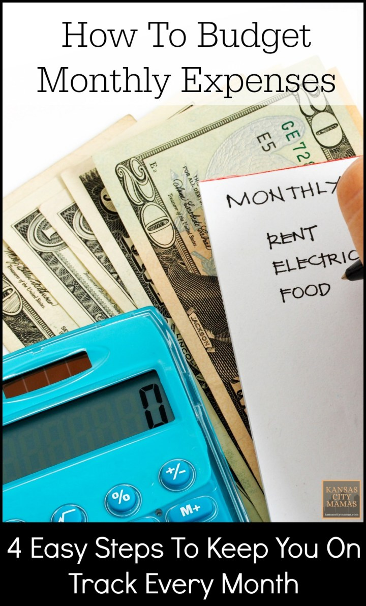 How To Budget Monthly Expenses
