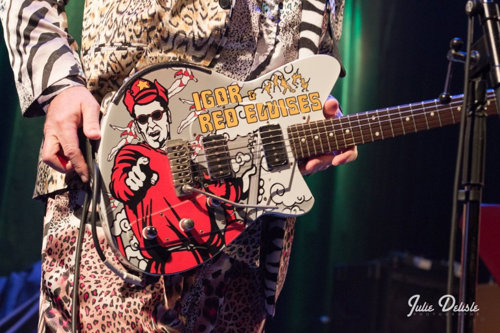 Red ELvises guitar