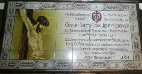 Retablo cerámico conmemorativo del XXV Aniversario