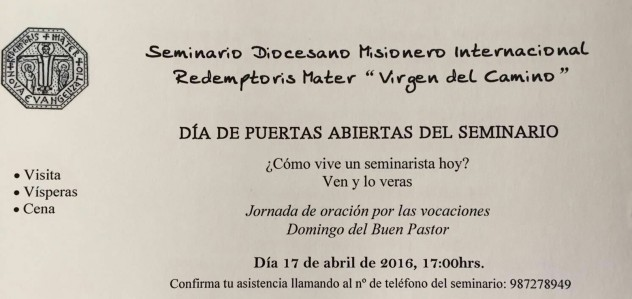 Puertas Abiertas Seminario Redemptoris Mater