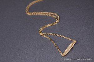 Handmade tube necklace
