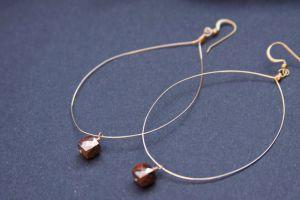 Large Hoop Pyrite Earrings