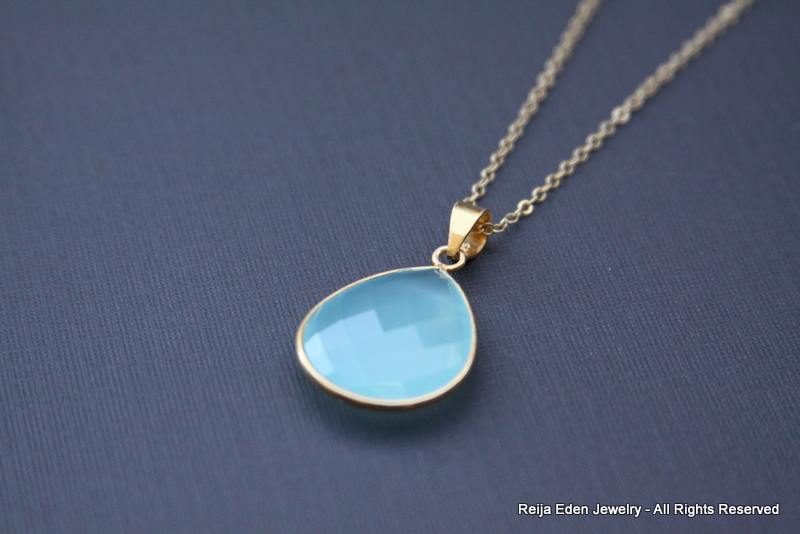Baby Blue Chalcedony Necklace