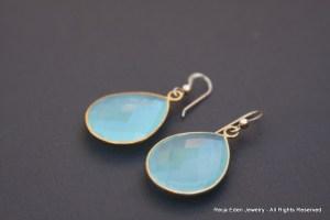 chalcedony gemstone earrings