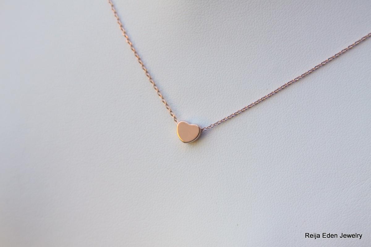 Heart Necklace Rose Gold Reija Eden Jewelry