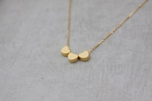 three hearts necklace - gold