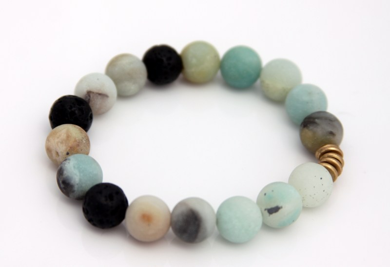 amazonite bracelet - essential oil diffuser jewelry
