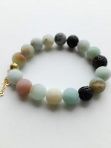 amazonite lava bead bracelet
