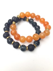 fall bracelet set - halloween bracelet set