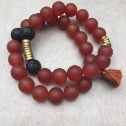 carnelian bracelet set