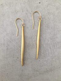 Long Gold Spike Earrings | Handmade Jewelry by jewelry ...