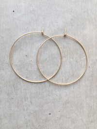 Simple Gold Hoop Earrings