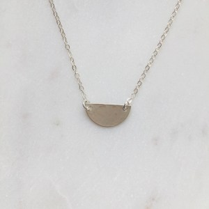 sterling silver half circle necklace