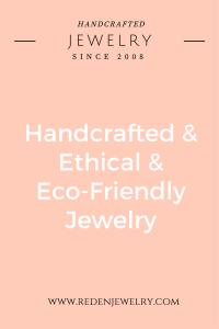 handcrafted jewelry - eco-friendly jewelry