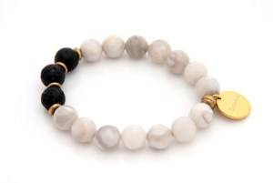 gemstone bracelet, charm bracelet, breathe