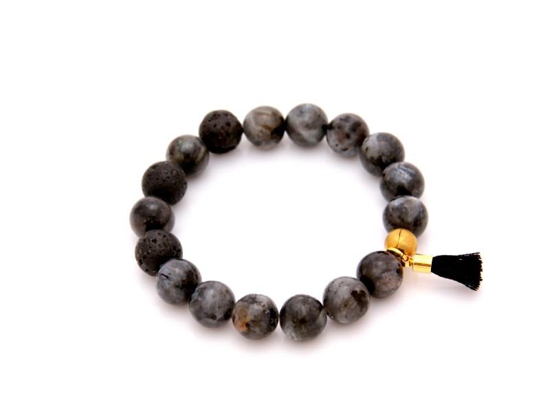 larvakite gemstone bracelet