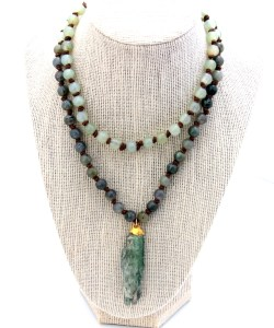 one of a kind hand knotted necklace